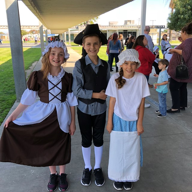 Look at the fun and creative Colonial Day costumes!