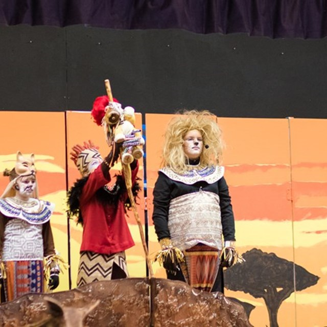Students in grades 4-6 put on a phenomenal Lion King performance!